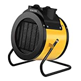 Yme 1500W Industrial Portable PTC Fan Heater Combo with Adjustable Thermostat Electric AC110V Small Safe Space Heater for Home Indoor Room Garage Office Desktop, Over Heating Protection, ETL Listed