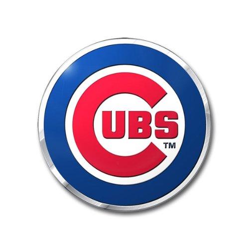 FANMATS MLB Chicago Cubs Die Cut Color Automobile Emblem, 4' x 3'