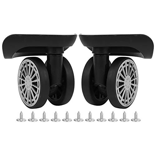 RiToEasysports 2 Pcs Suitcase Wheel,Bearing Casters Luggage Wheel Easy to Install Mute Low Noise Luggage Replacement Accessories