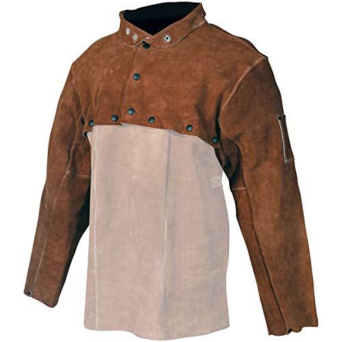 Caiman 5020-6 Extra Large Cape Sleeves Welding Jacket, Bourbon