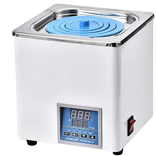 HUKOER Baño de agua termostático digital con aberturas seleccionables, baño de agua eléctrico de un solo orificio, laboratorio digital, 3L, 220V a 100 ° C