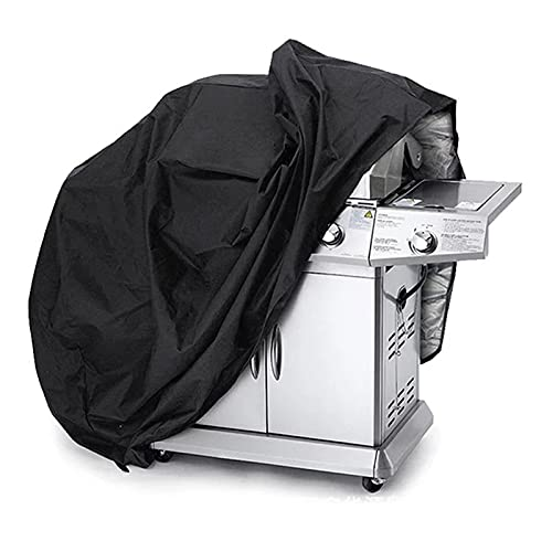 SZBLYY Funda Barbacoa Cubierta de barbacoa negro impermeable protector solar bbq accesorios de barbacoa cubierta de la parrilla lluvia anti polvo lluvia gas carbón de carbón eléctrico cubierta de barb