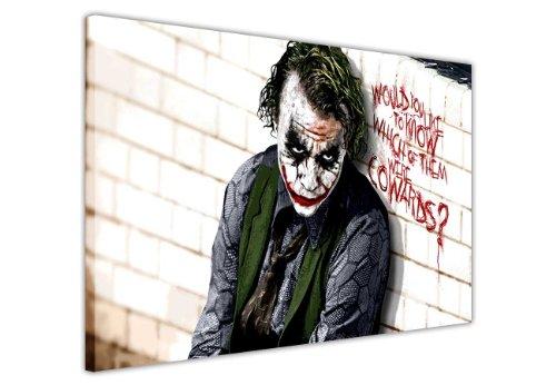 Pop-Art-Leinwandbild, Motiv: Joker, Batman, Dark Right, Cowards, Bilder von Hollywood-Legenden, canvas, 60 x 40 cm, A2, 5
