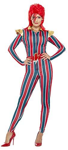 Fancy Me Damen 1970er Jahre Space Superstar Glam Rocker Icon 70er Jahre Musik Legende Kostüm Outfit UK 8-18 UK 16-18 Mehrfarbig