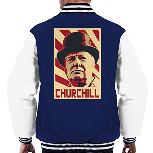 Cloud City 7 Winston Churchill Retro Propaganda Men's Varsity Jacket