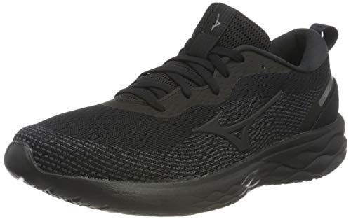 Mizuno Wave Revolt, Road Running Shoe Unisex Adulto, Black/Black/Black, 36.5 EU
