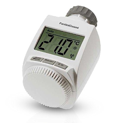 Fantini Cosmi O81RF draadloze thermostaat voor radiator, wit