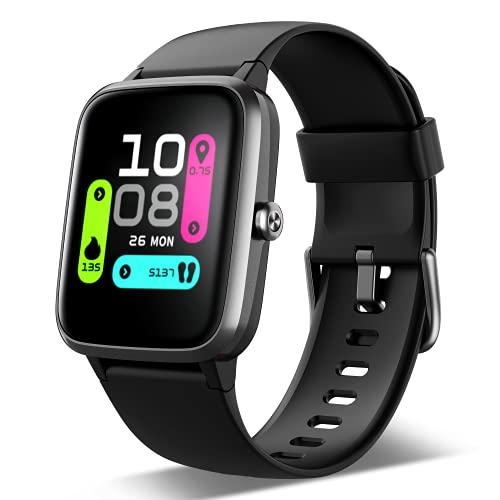 FKANT Smartwatch, Reloj Inteligente para Hombre Mujer GPS 14 Modos Reloj Deportivo con Impermeable 5ATM Pulsera de Actividad Inteligente con Pulsómetros Monitor de Sueño Podómetro para Android iOS