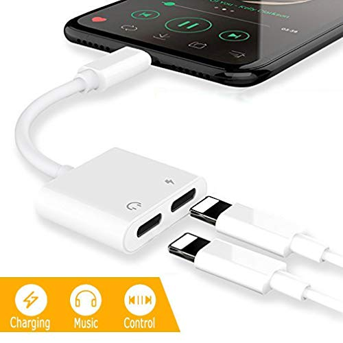 turelar Compatible Compatible 2 in 1 Adapter and to Aux Headphone Jack Audio Adapter