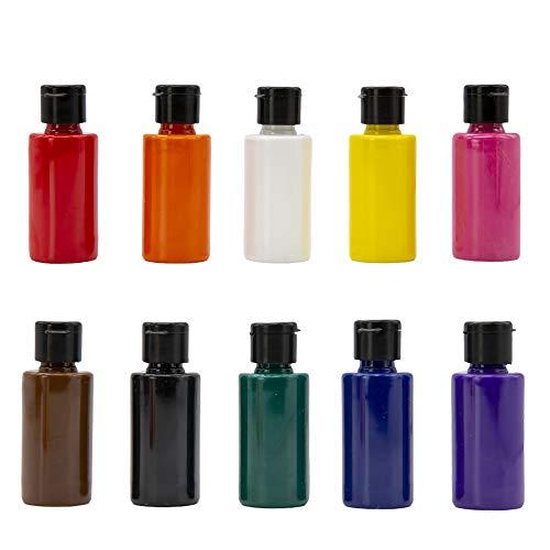 Juego de pinturas acrílicas | 10 colores x 40 ml | pinturas artísticas de calidad artística | botellas de 40 ml, juego de 10 colores, base de agua