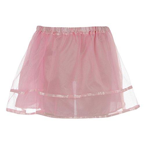 Girls Princess Costume Dress Up Layered Tutu Skirt Dancewear Pink