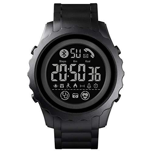GZA Smart Watches Digital Men's Watch Aplicación Recuerde A Calorie SmartWatch Waterproof Bluetooth Watch para Android (Color : All Black)