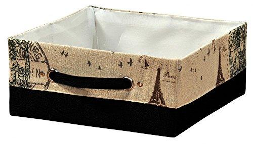 Kesper 19512 AUFBEWAHRUNGSKORB,Paris' Box KISTE Textil Korb ORDNUNGSBOX faltbar Regal