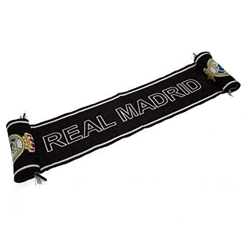 Real Madrid - Bufanda unisex para adulto, color negro