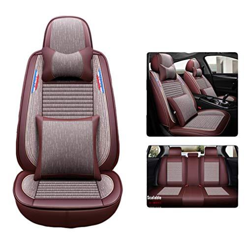 SZ JIAOJIAO 5 zitplaatsen auto stoelhoezen beschermer auto stoel kussens compatibel met Volvo XC60