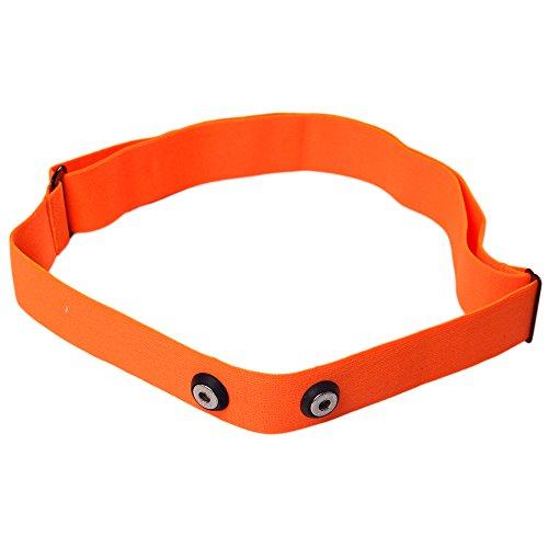 Correa para el pecho Winwill ajustable para monitor de frecuencia cardíaca para Garmin, Wahoo, Polar, color naranja