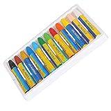 Pastel al óleo, crayón Aplicación suave Artesanía precisa para el hogar(New 12 colors (boxed), Santa Claus)