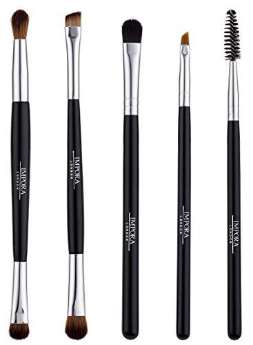 Augen & Augenbrauen Make-Up Pinsel-Set - Spoolie, Lidschattenmischung, abgewinkelter Augenbrauenpinsel & mehr.