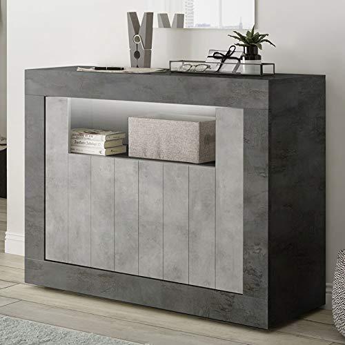 Kleine dressoir 110 cm grijs modern beton-effect Urban 8