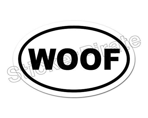 Oval Car Magnet WOOF Magnetic Bumper Sticker