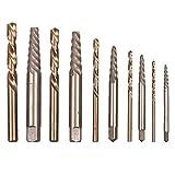 YUQIYU 10pcs juego de brocas de manos en la masa, brocas Extractores Herramientas de metal de la energía Accesorios de titanio con revestimiento de nitruro
