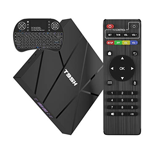 2020 Android TV Box 10.0 con Mini Teclado Inalámbrico, T95H 1GB RAM 8GB ROM Allwinner H616 Quad-Core Smart Box 64-bit, Soporte 6K, H.265, 3D, 2.4G WiFi, 10 / 100M Ethernet, etc.