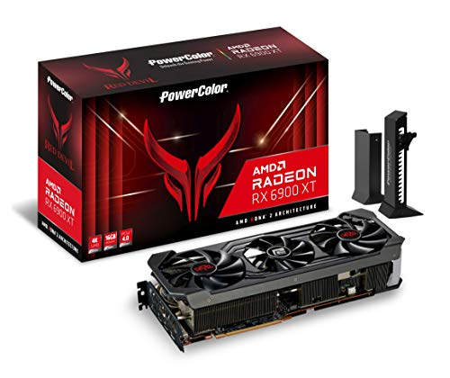 PowerColor Red Devil AMD Radeon RX 6900 XT Gaming Grafikkarte mit 16 GB GDDR6 Speicher, angetrieben von AMD RDNA™ 2, Raytracing, PCI Express 4.0, HDMI 2.1, AMD Infinity Cache