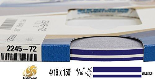 "Universal SL 0004007 - Auto Customizing Dual Pinstripe - 4/16' x 150' (1/8"" Stripe, 1/16' Gap, Then 1/16"" Stripe) - 007-Regal Purple"