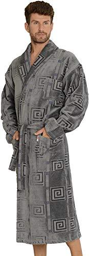 Forex Lingerie comfortabele badjas voor heren met zakken en knoopriem van 100% katoen
