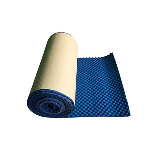 Blauw akoestische panelen, Meeting Room Recording Studio deur en raam Multifunctionele Self Adhesive Geluidsabsorberende Cotton (Color : 5 square meters)