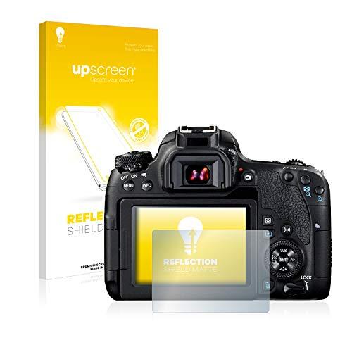 upscreen Entspiegelungs-Schutzfolie kompatibel mit Canon EOS 77D – Anti-Reflex Displayschutz-Folie Matt