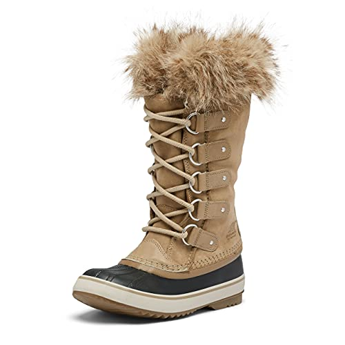 SOREL Women's Joan of Arctic Boot — Khaki II — Waterproof Suede Snow Boots — Size 9.5