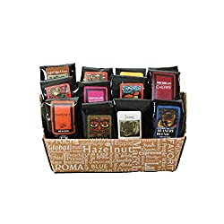 Letter C themed gift idea - coffee basket