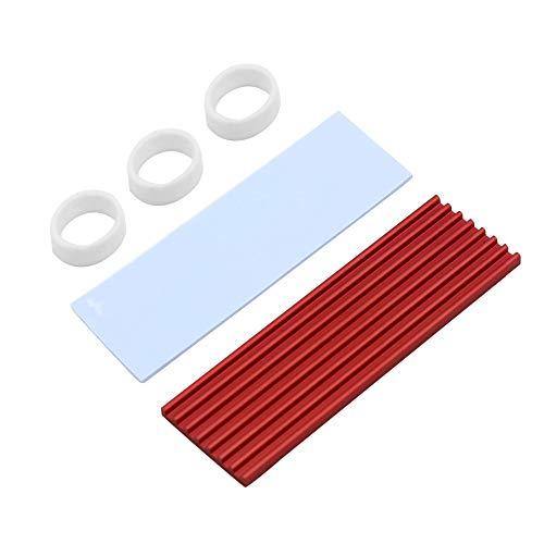 XT-XINTE Dissipateur thermique en aluminium M.2 pour disque dur SSD NGFF NVME PCIE 2280 Rouge