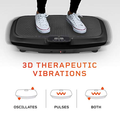 LifePro 3D Vibration Plate Exercise Machine - Dual Motor Oscillation, Pulsation + 3D Motion Vibration Platform | Full Whole Body Vibration Machine for Home Fitness & Weight Loss (Black)