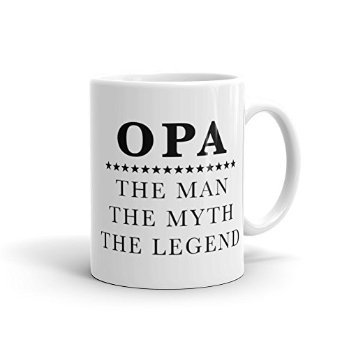 Opa Gift Taza de café, Best Opa, New Opa, Opa, Opa Gift New Opa, Opa, Opa, Opa, Opa, Regalos de cumpleaños, Opa, Regalo de Navidad, Taza de cerámica de 15 onzas