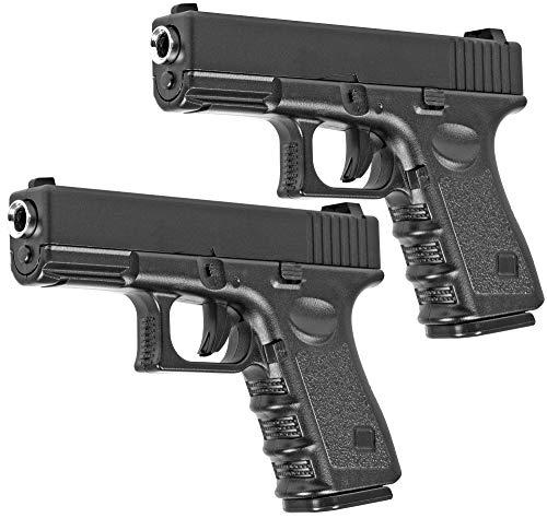 Evil Wear Doppelpack Softair Gun Airsoft Vollmetall Federdruck Pistole 19cm 0,5 Joule