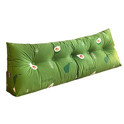 xinke Cuña De Almohada para Leer En La Cama Posicionamiento Soporte De Lectura Cuña Almohada para Cama De Día Cama Litera Tapa Extraíble Rey(Size:100×22×50CM,Color:Verde)