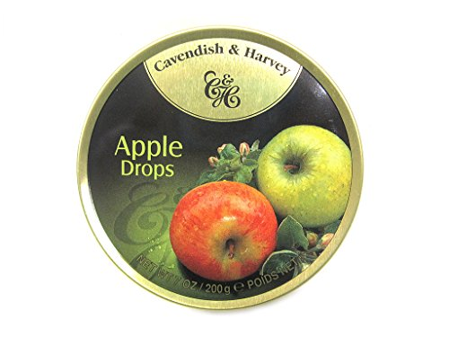 Cavendish & Harvey Apple Drops - Bonbons, 200g in Metalldose