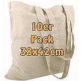 Cottonbagjoe - Bolsa de Yute (algodón, con Dos Asas largas, 38 x 42 cm)