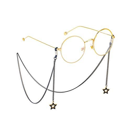 LDGR Dunkle Brille Ketten Weibliche Männliche Halskette Seil, Die Alte Weisen Art Und Weise Aushöhlen Heraus Die Stern Metallkette Hängen Junge Kette String Perlen Wulstige