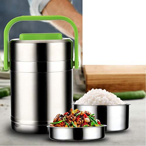 FPXNBONE Food Jar,Isoliergefäß aus Edelstahl 304, Lunchbox mit großem Fassungsvermögen-2.0L_grün,Vakuum Thermobehälter