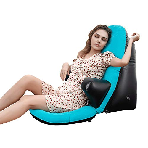 Inflatable Chair for Outdoors, Portable Inflatable Lounger for Camping, Travel, Hiking, Backyard, Reading, Carrying Floor Chair Air Sofa Casual Blow up Couch.