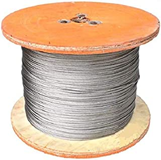 Fetcus 100m/lot 3.0mm 304 Stainless Steel Wire Rope Wick SS Cable Wick DIY 7x7 Strand Core Non Galvanized - (Color: 304 Stainless Steel, Width: 3.0mm, Length: 100m)