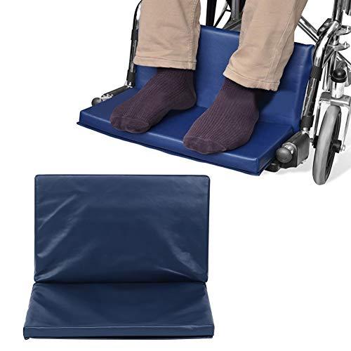 Extensor de reposapiés para silla de ruedas, almohadilla elevadora de algodón para discapacitados con pedal para silla de ruedas, fácil de mantener y limpiar, duradero y resistente al desgaste (1#)