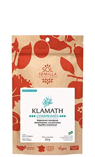Klamath Crue comprimés | BIO | Sol Semilla | Algue AFA - qualité crue et sauvage| 100 comprimés | 50 g