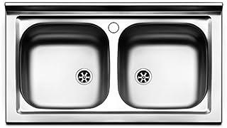 Amazon.it: lavello cucina 2 vasche con gocciolatoio