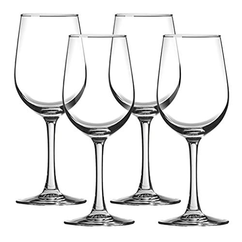 HYAN Copa de Vino Conjunto de Copas de Vino de Cristal de 4, Conjunto de Plumas de Corte láser, Conjunto de Copa de Vino Clear Chardonnay, Conjuntos Aniversario/de Vino Copas