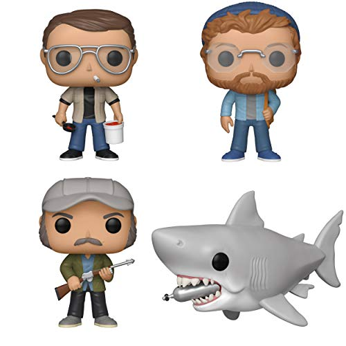 Funko Movies: Pop! Jaws Collectors Set - Chief Brody, Matt Hooper, Quint, 6' Jaws with Diving Tank