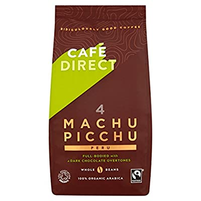 Cafédirect Fairtrade Machu Picchu Whole Bean Arabica Coffee, 227 g, Pack of 6